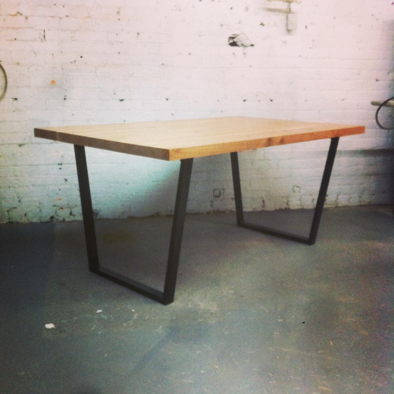 Table Sur Mesure Bois Et Acier J R Me Lavoie B Niste # Table Bois De Grange